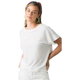 Prana Vosky Camiseta Manga Corta Mujer, blanco
